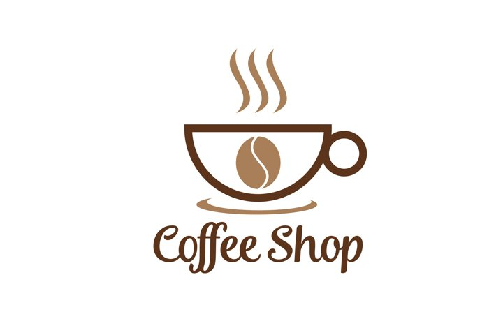 Coffee logo for cafe resto and product label - food drink