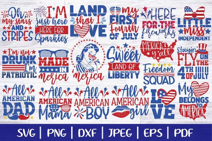 4th Of July SVG Bundle, Independence Day Bundle SVG