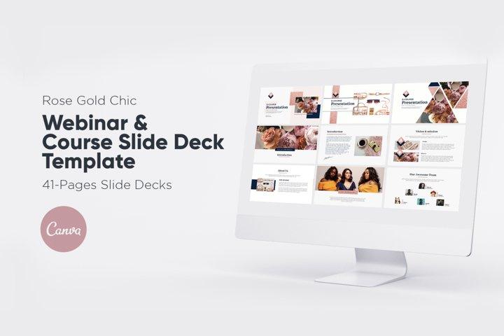 Rose Gold Chic Webinar Slide Deck for Canva