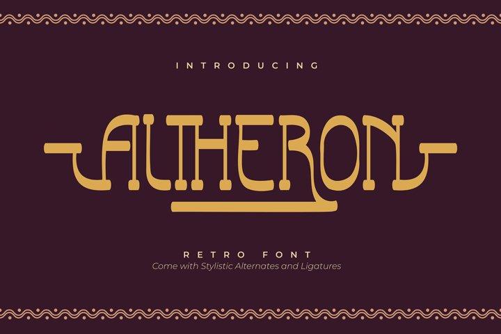Altheron | Retro Serif Font