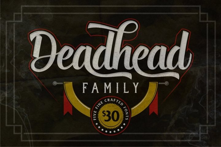 Deadhead Typeface Family - Free Font of The Week Font