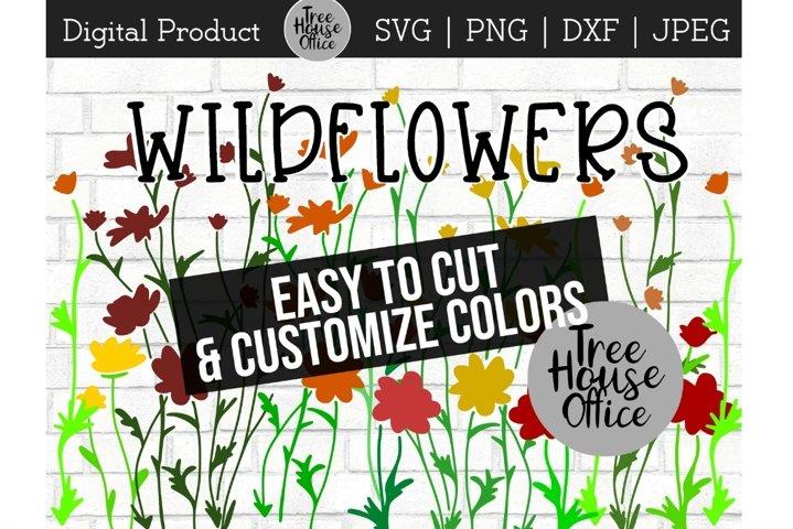 Wildflower Floral Botanical Hand Drawn SVG PNG JPG DXF