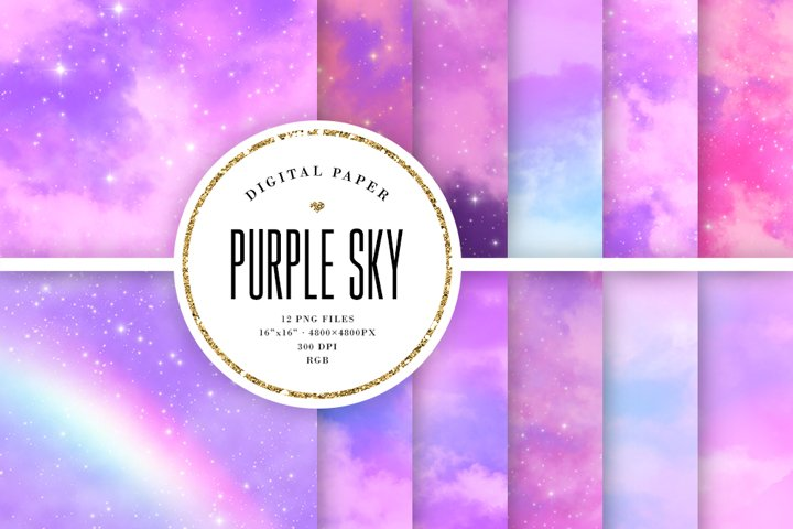 Purple Sky Aesthetic Backgrounds