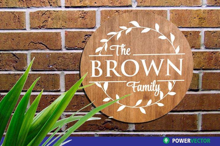 Wedding Monogram SVG | Family Wreath Sign Template