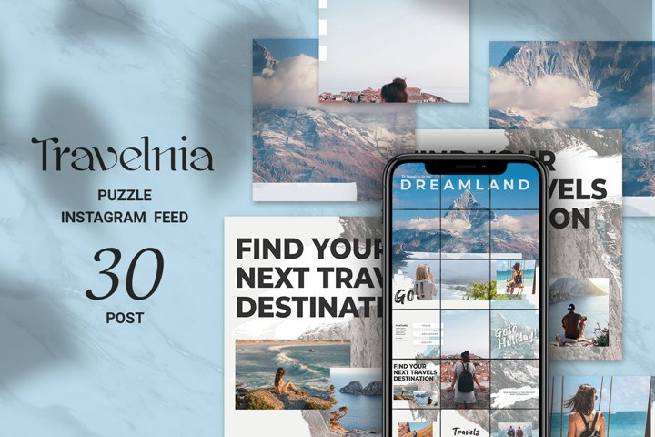 Travelnia Puzzle Instagram Feed