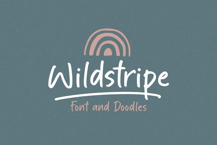 Wildstripe | Font and Doodles