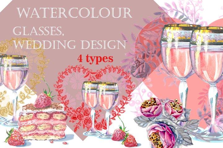 wedding glasses, wedding design