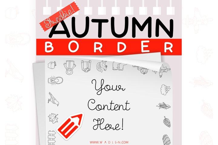 Autumn / Fall - Border Template