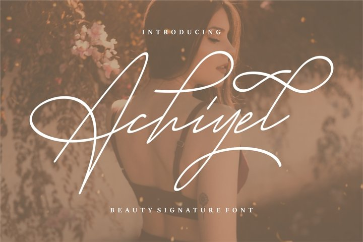 Achieyel - Beauty Signature Font