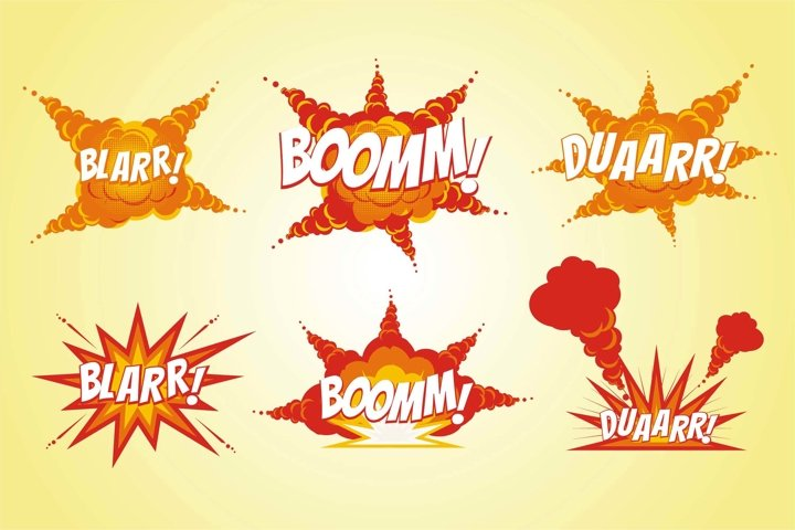 Comic Boom with Explode effect