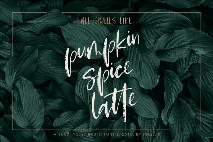 Pumpkin Spice Latte | Brush Script