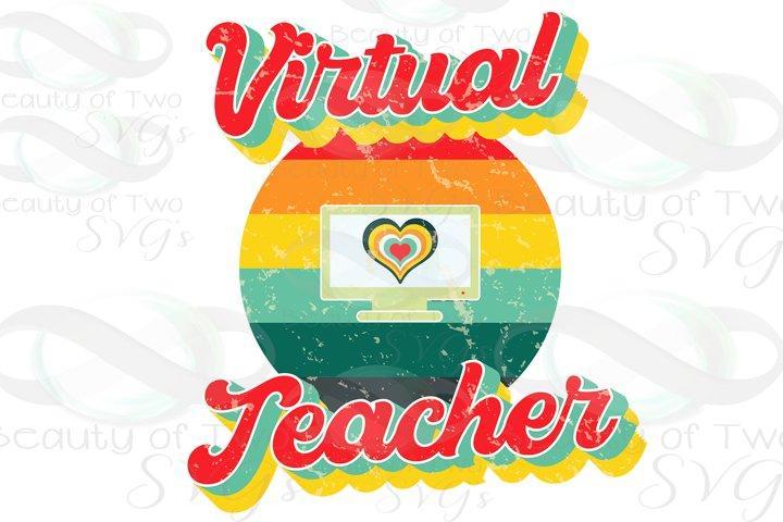 Virtual Teacher Retro png, Teach Clip Art png, Sublimation