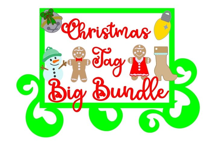 Christmas Tags BIG BUNDLE Scrapbook Embellishment Cut Files