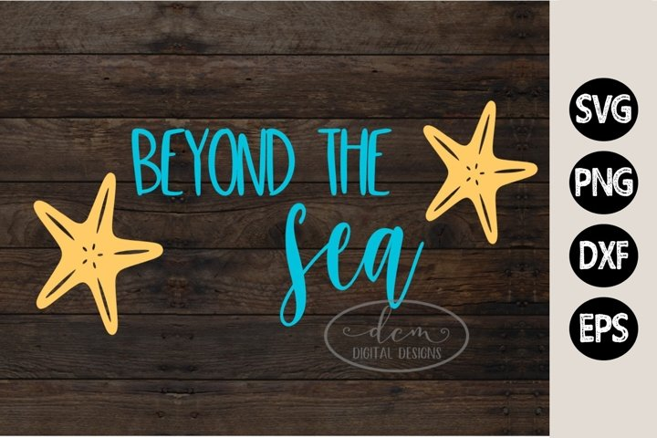 Beyond the Sea starfish SVG PNG DXF EPS