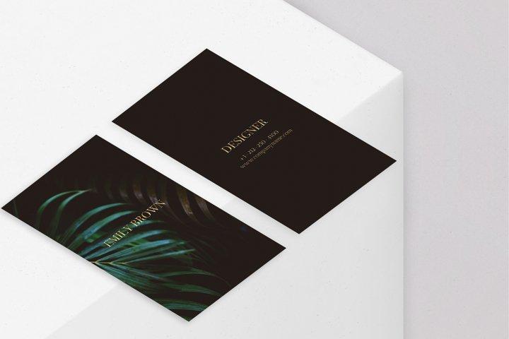 CANVA | Classy Photographer Black Gold Business Card