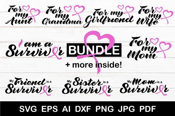 Breast Cancer SVG. Cancer survivor SVG. Breast cancer bundle