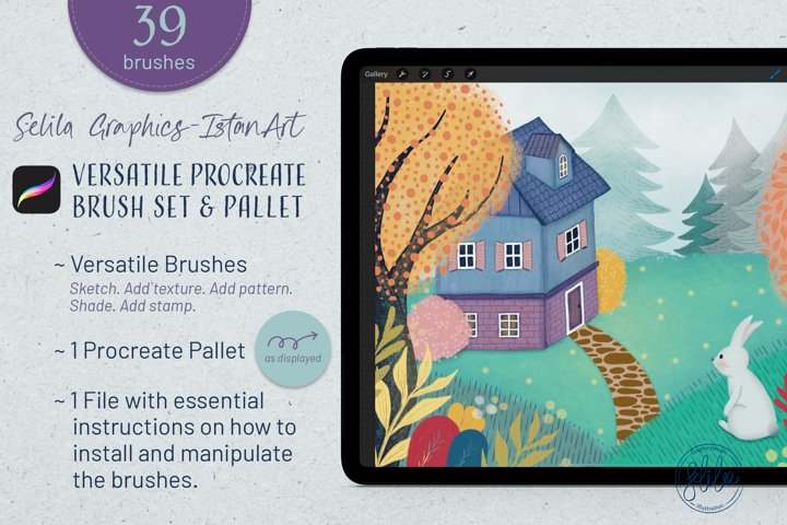 39 Versatile Procreate Brushes - Tool kit