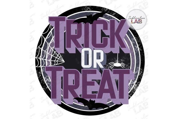 Trick or Treat Retro Halloween Fall Vintage Sublimate Design