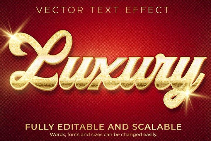 Golden luxury text effect, editable elegant text style