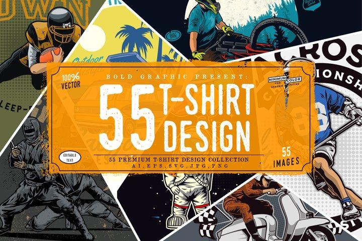 55 t-shirt design collection