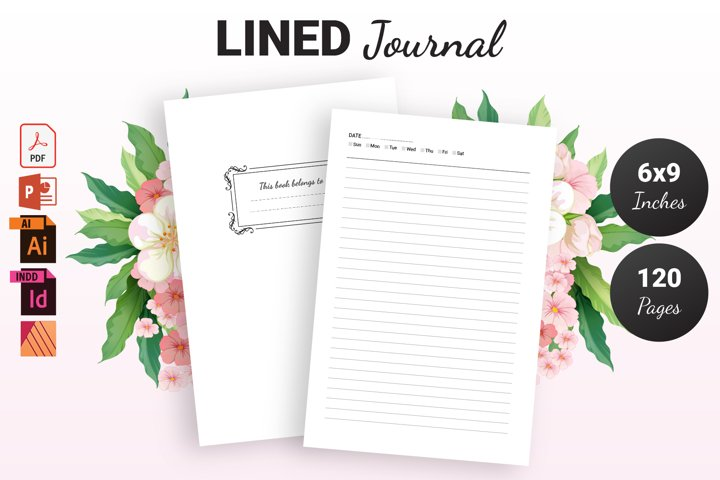 Lined Journal Decorated   KDP Interior