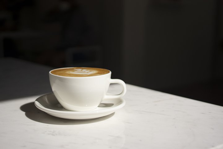 close up cappuccino Coffee cup