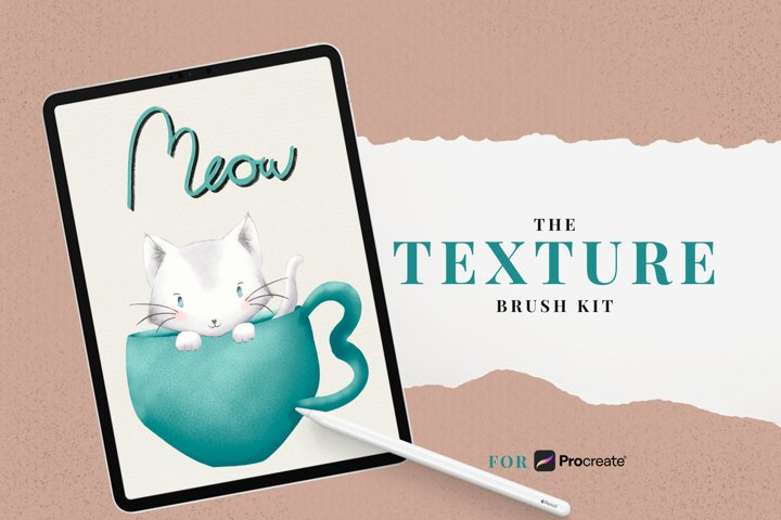 The Texture Brush Kit - Brushes for Procreate