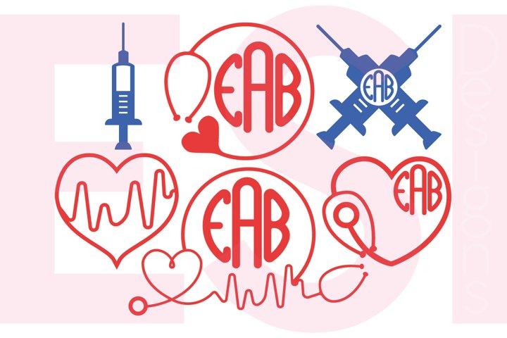 Nurse Monogram Designs Set 2
