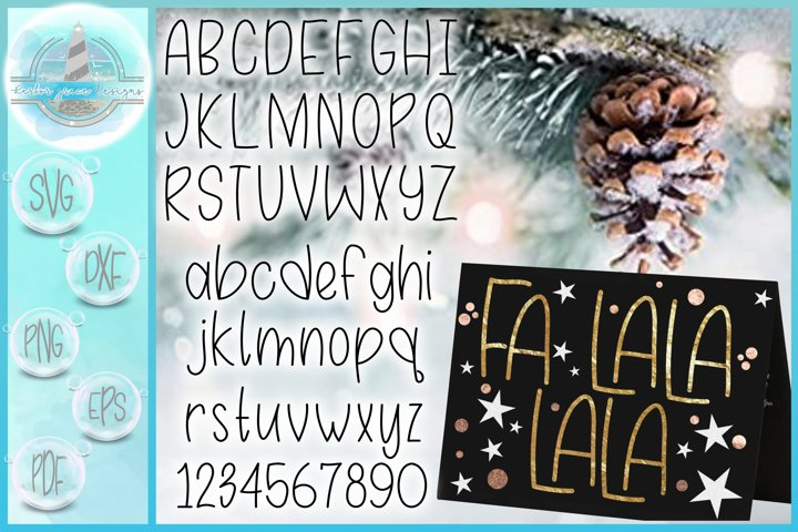 Hand Lettered Alphabet - Foil Quill Single Line SVG