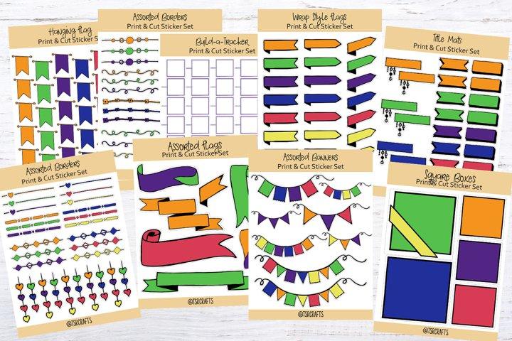 Planner Stickers - Huge Printable Sticker Bundle #2 -Set #13