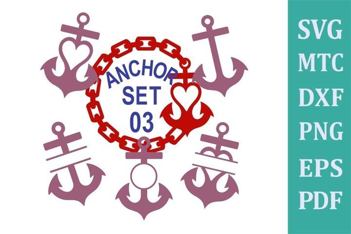 Anchor Set 03 Cruise Bundle Sublimation SVG Cut File