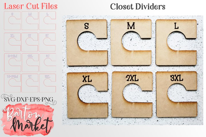 Laser Closet Dividers SVG DXF EPS PNG example