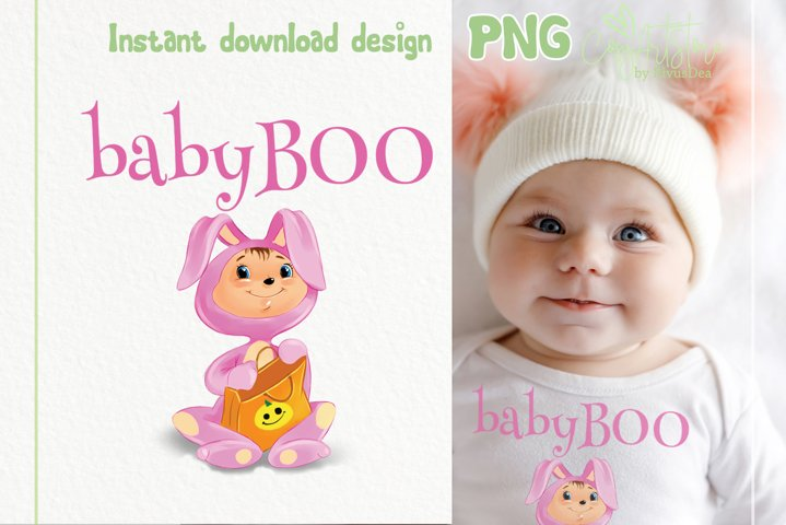 Baby boo Halloween cute PNG Sublimation design