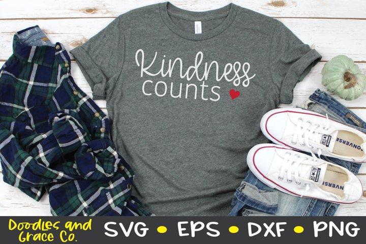 Kindness Counts SVG - SVG - EPS - PNG - DXF