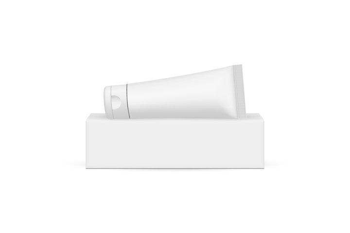 Plastic Cosmetic Tube on Horizontal Packaging Box
