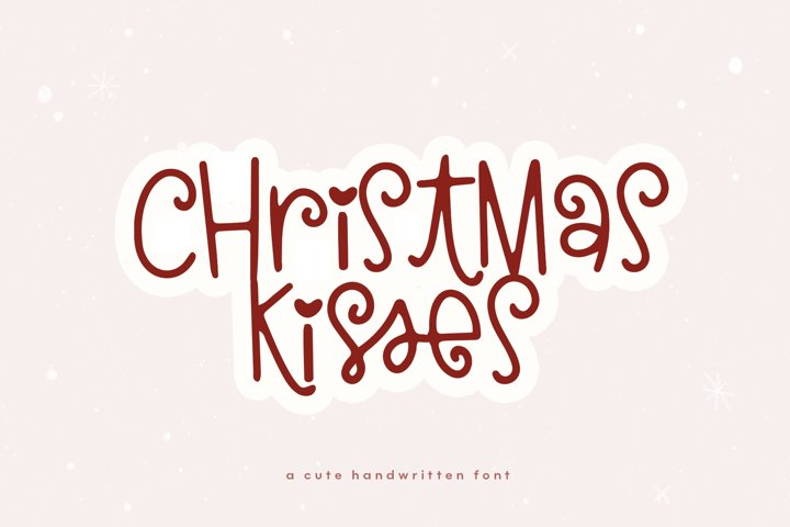 Christmas Kisses - A Cute & Quirky Holiday Font