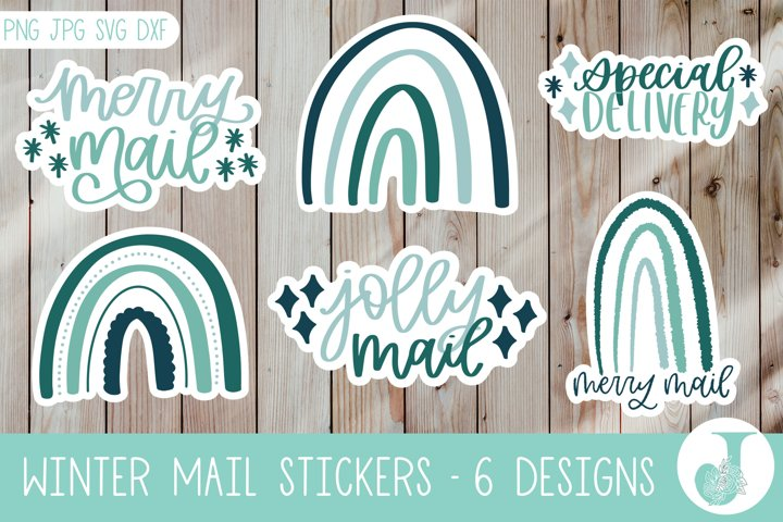 Packaging Sticker Pack, Winter Stickers, Print then Cut