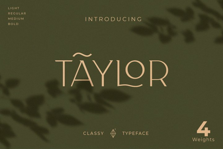 Taylor - Royal Classic Typeface