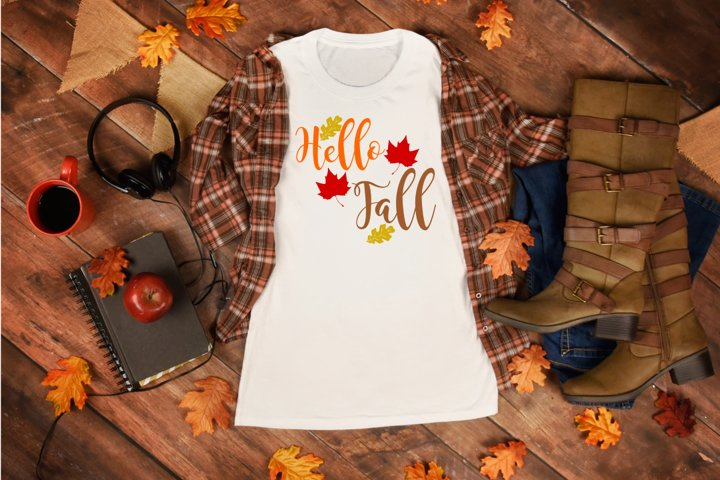 Hello Fall - Fall svg