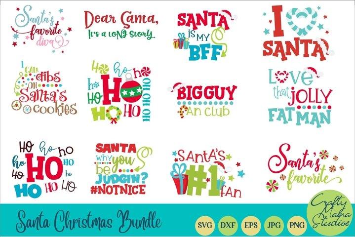 Christmas SVG Bundle, Santa Claus Svg Santa Christmas Bundle