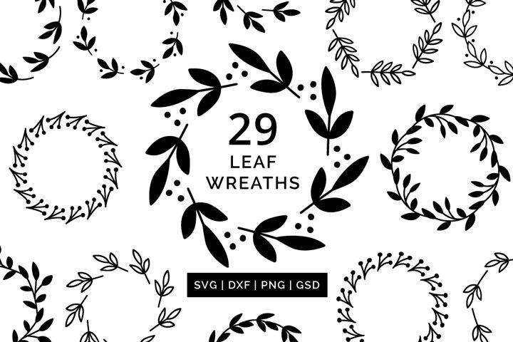 Wreath SVG Cut File Bundle