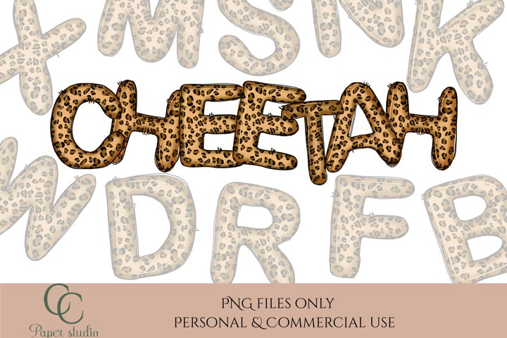 Alphabet set - Sublimation alpha pack - Cheetah