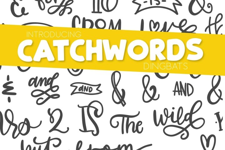 Catchwords & Ampersands - A Dingbat Font