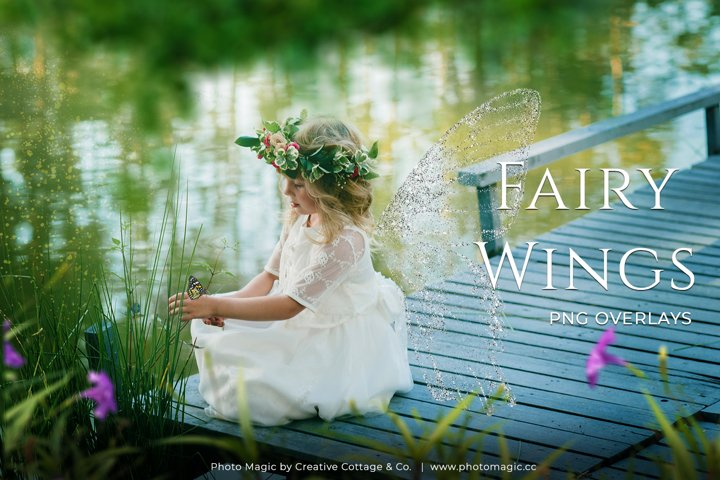Fantasy Fairy Wing Photo Overlays