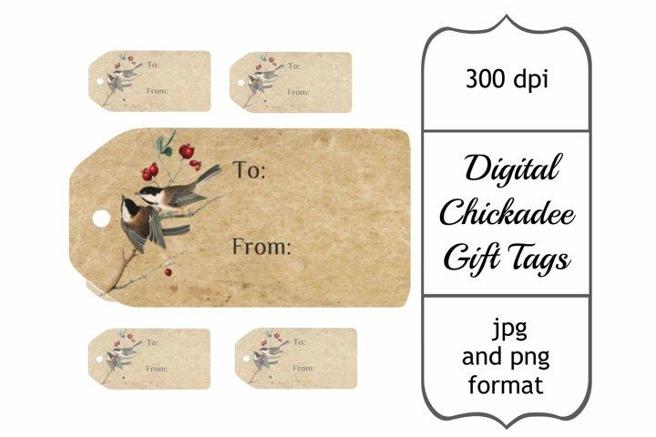 Chickadee Printable Gift Tags