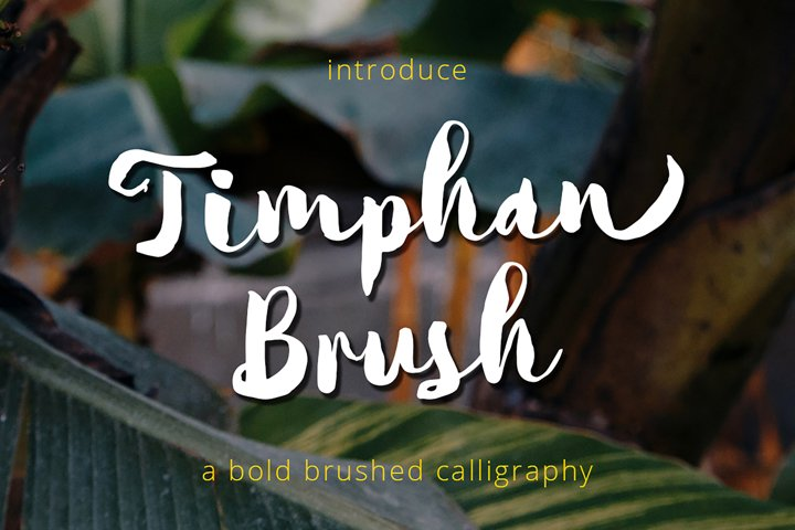 Timphan - A Fonts For Titles!