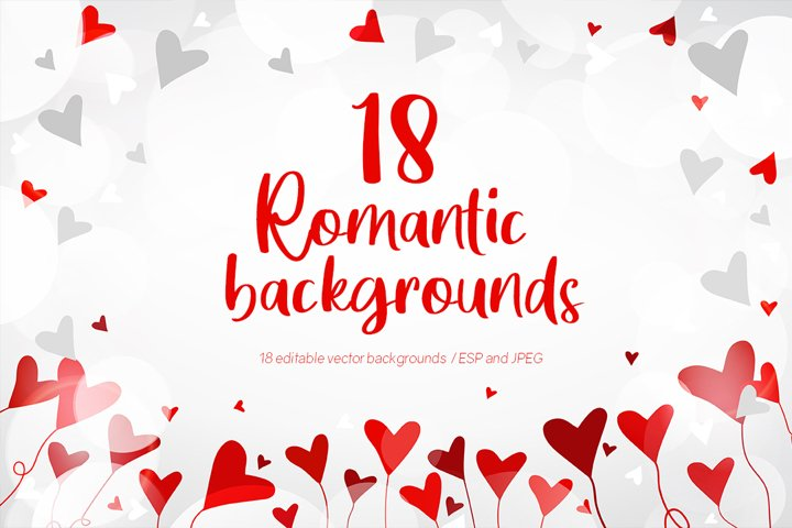 Romantic Backgrounds Vector Collection
