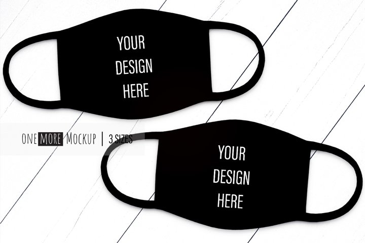 Black Face Mask Mockup |Mask Mock Up