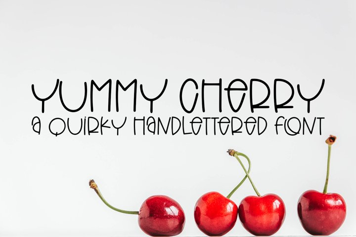 Yummy Cherry - A Quirky Hand-Lettered Font