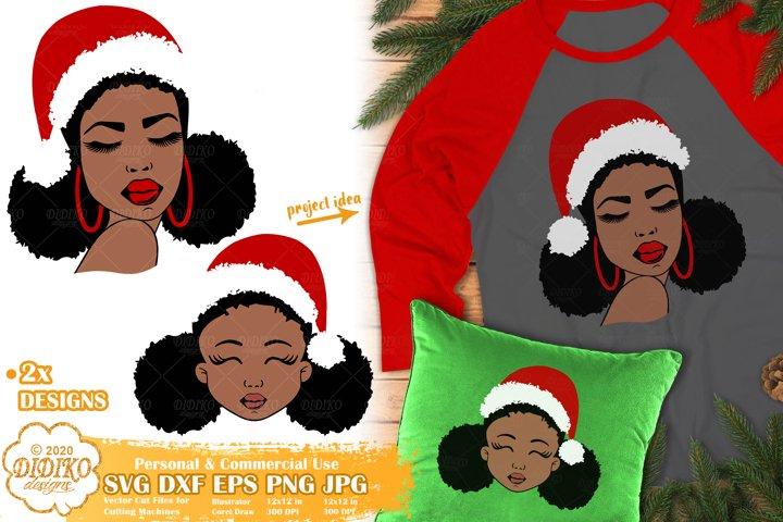Black Woman SVG | Black Girl SVG | Christmas SVG